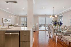 Kitchen into Dining - sliding door