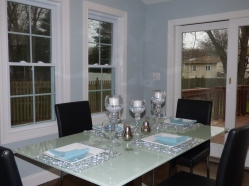 Dining looking out French door
