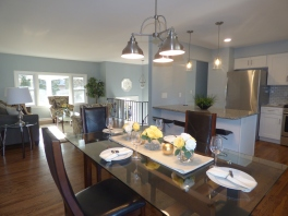Open Dining Kitchen LR